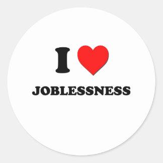 I desempleo del corazón etiquetas redondas