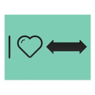 I Echar a un lado-Flechas dobles del corazón Postal