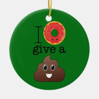 I el buñuelo da un ornamento de Emoji del verde