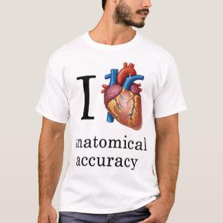I exactitud anatómica del corazón camiseta
