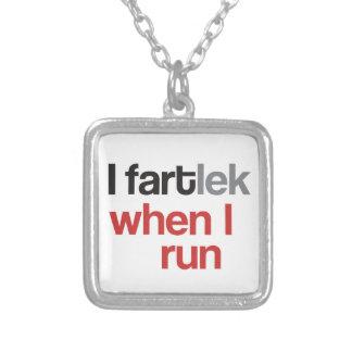 I FARTlek cuando corro el © - FARTlek divertido Colgante Cuadrado