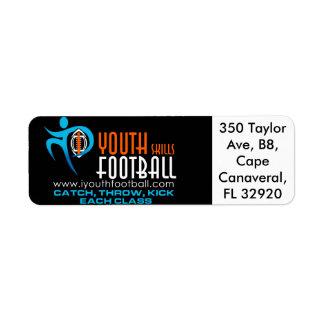 I fútbol de la juventud etiquetas de remite