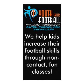 I fútbol de la juventud plantilla para tarjeta de foto