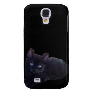 i gato negro de los animales funda para galaxy s4
