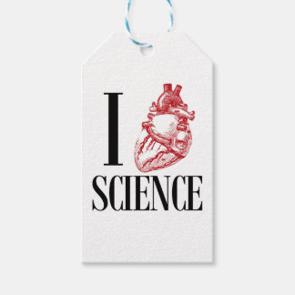 I heart science etiquetas para regalos