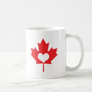 I hoja de arce de Canadá del corazón Taza De Café