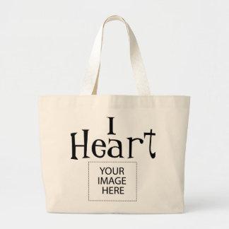 I la bolsa de asas del personalizable del corazón