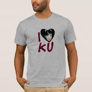 I la camiseta de los hombres de Ku del corazón