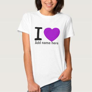 I Love_ Camisetas
