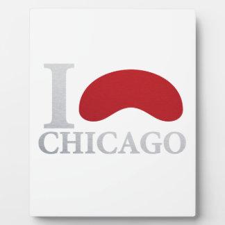 I LOVE CHICAGO PLACA EXPOSITORA