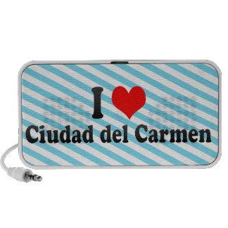 I Love Ciudad del Carmen, México Notebook Altavoces