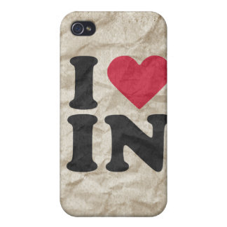 I LOVE IN iPhone 4/4S COVERS