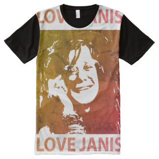 I Love Janis LED Vintage Series Camiseta Con Estampado Integral