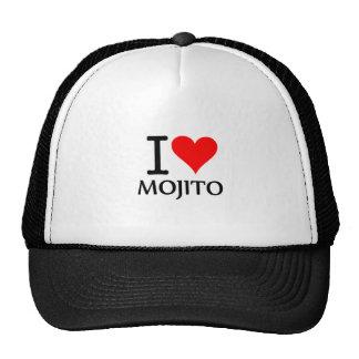 I Love Mojito 3 Gorros Bordados