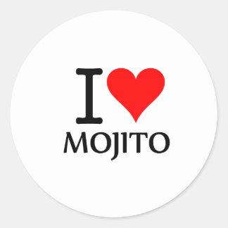 I Love Mojito 3 Pegatina Redonda