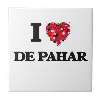 I Love My DE PAHAR Azulejo Cuadrado Pequeño