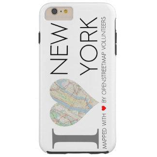 I love New York. OpenStreetMap Funda Resistente iPhone 6 Plus