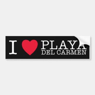 I love Playa del Carmen Etiqueta De Parachoque