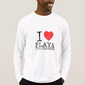 I love Playa del Carmen Sport Long Sleeve Shirt Camiseta