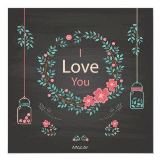 I love you invitación 13,3 cm x 13,3cm