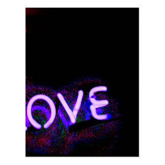 I love you neon light sign at night photograph rom postal