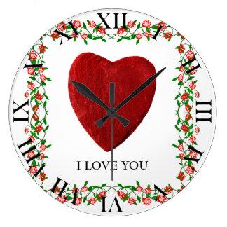 I love you reloj redondo grande