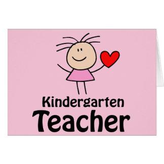 I maestro de jardín de infancia del corazón tarjeta de felicitación