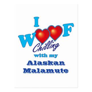 I Malamute de Alaska del tejido Postal