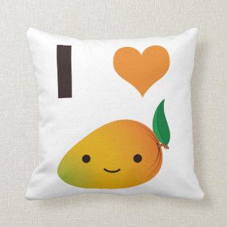 I mango del corazón cojín decorativo