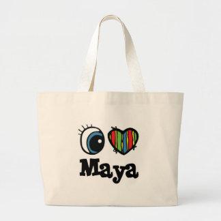 I maya del corazón (amor) bolsa tela grande