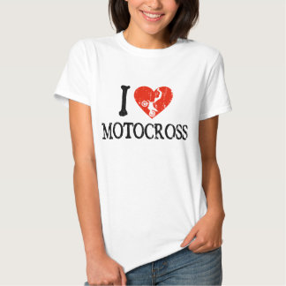 I motocrós del corazón camisetas