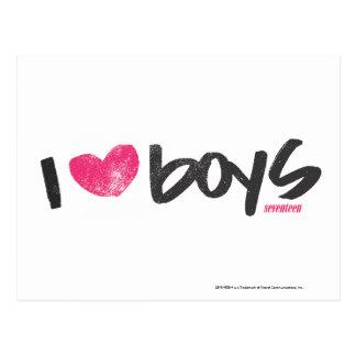 I muchachos del corazón magentas tarjeta postal