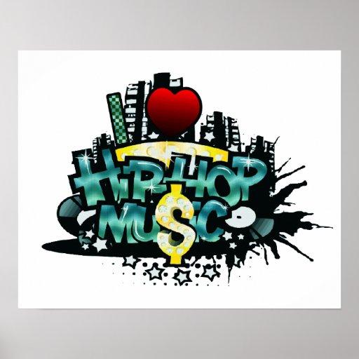 I música de Hip Hop del corazón Poster