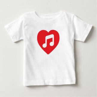 I música del corazón camiseta de bebé
