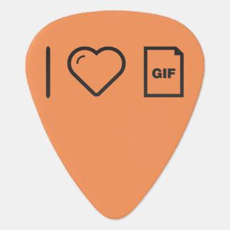 I negrita del GIF del corazón Uñeta De Guitarra