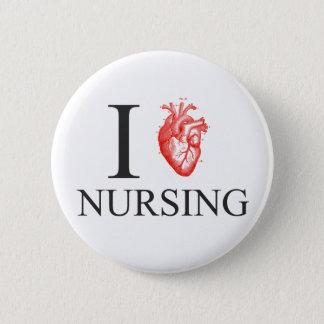 I oficio de enfermera del corazón chapa redonda de 5 cm