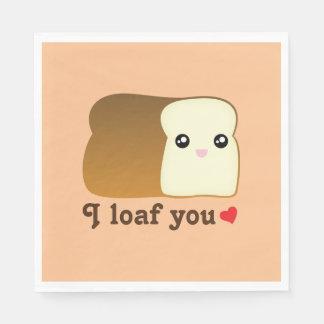 I pan usted retruécano divertido de la comida del servilleta de papel