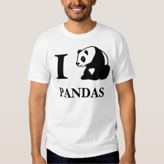I pandas del corazón camiseta