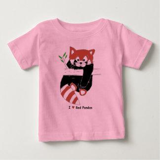 I pandas rojas del corazón camiseta