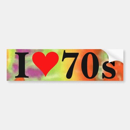 I pegatina para el parachoques del corazón 70s