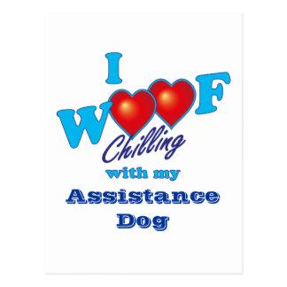 I perro de la ayuda del tejido postal