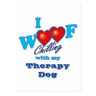 I perro de la terapia del tejido postal