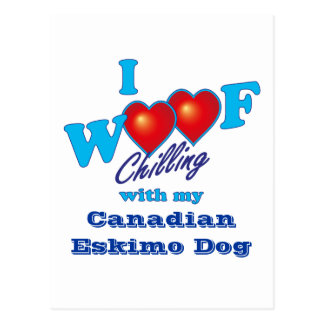 I perro esquimal canadiense del tejido postal