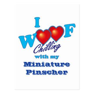 I Pinscher miniatura del tejido Postal