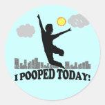 I Pooped hoy Pegatina Redonda
