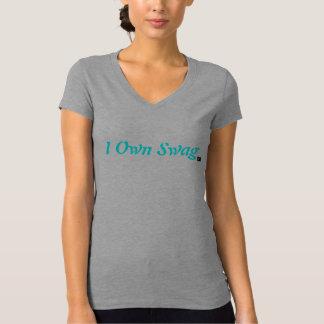 I poseer la camiseta del cuello en v del Swag