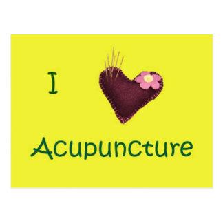 I postal de la acupuntura del corazón