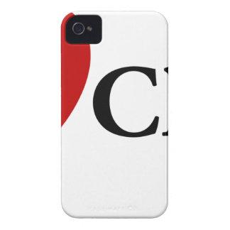 I queso del corazón carcasa para iPhone 4 de Case-Mate
