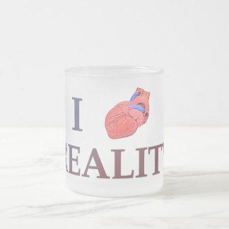 I realidad del corazón taza de café esmerilada