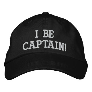 I sea capitán. Blanco y negro. Gorro Bordado